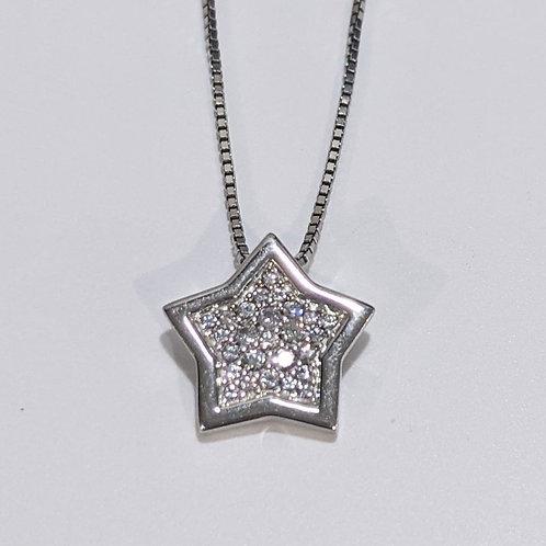 Bentelli White Sapphire Star Pendant