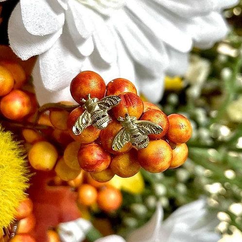 14kt Yellow Gold Bee Earrings