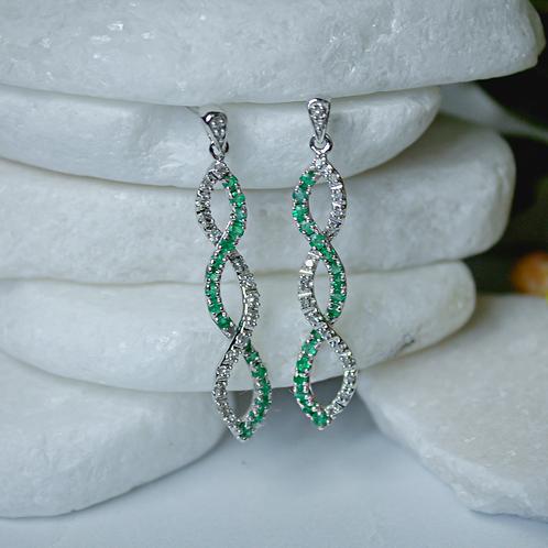 Emerald Twist Earrings