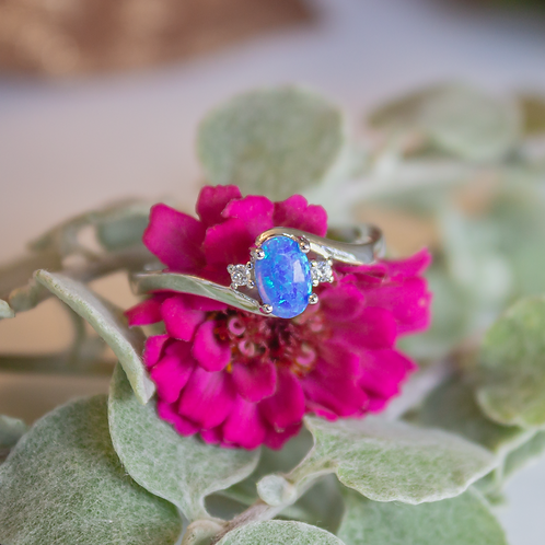 Lab-Created Opal Ring