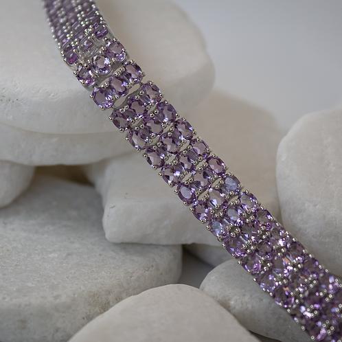 3-Strand Amethyst Bracelet
