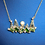 Thumbnail: Yellow Gold Tree Line Necklace