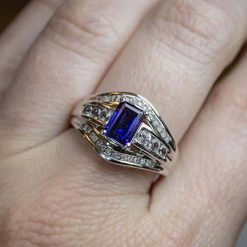 Estelle Sapphire & Diamond Ring