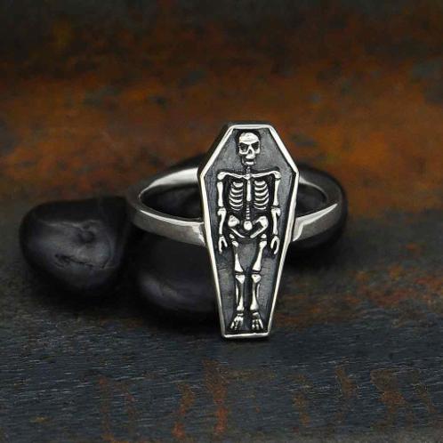 Skeleton Coffin Ring