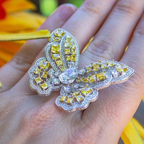 Designer Butterfly Ring