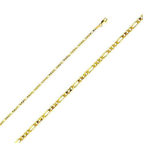 14k Yellow Gold 2.3-mm Figaro Chain Necklace