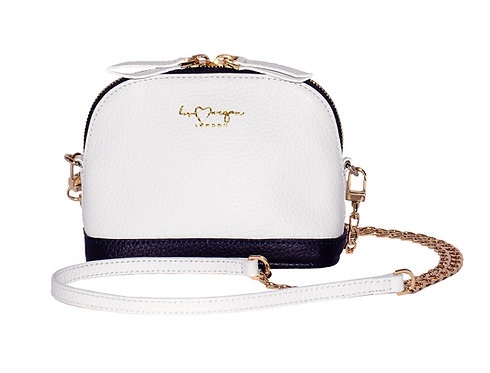 Audrey Crossbody | Ice White & Navy
