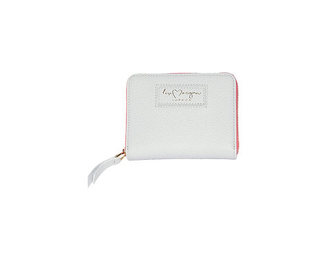 Ava Zip Purse | Ice White