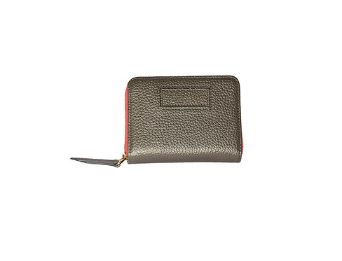 Ava Zip Purse | Silver Grey
