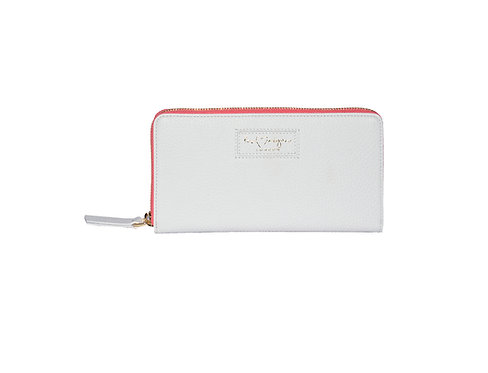 Ava Zip Wallet | Ice White