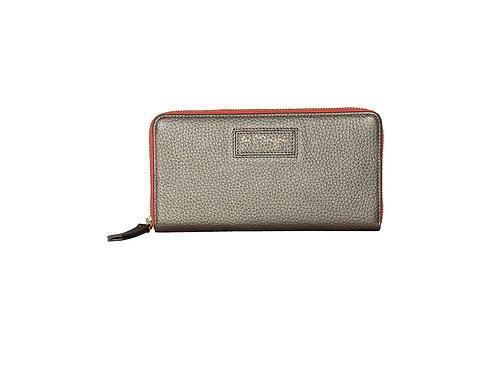 Ava Zip Wallet | Silver Grey