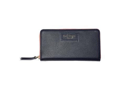 Ava Zip Wallet | Navy