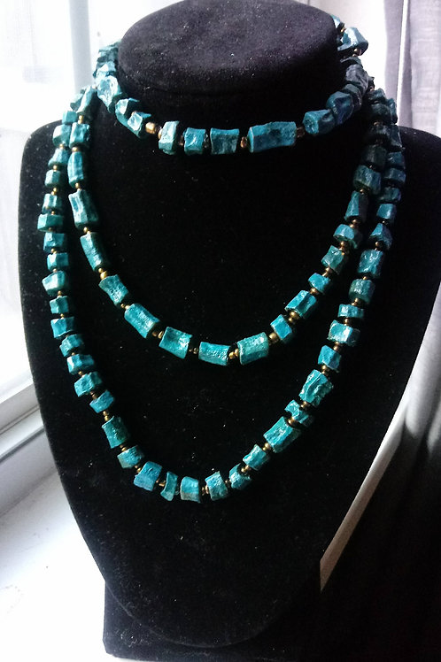 Turquoise Two Tier Beaded Neck Lace