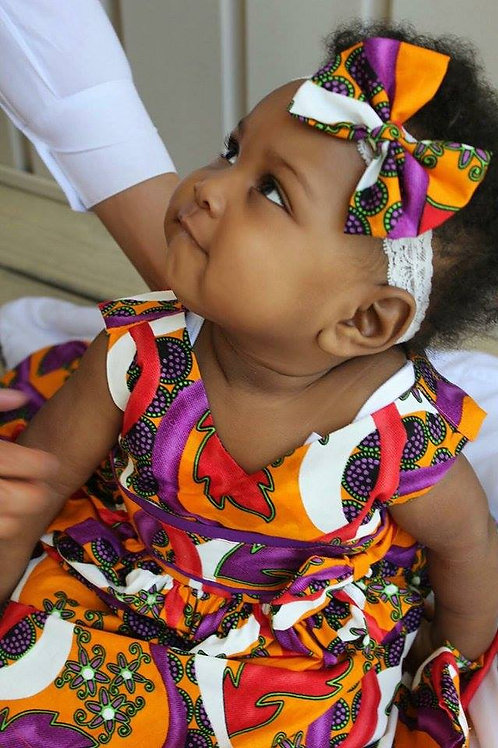 Multicolored Baby Dress