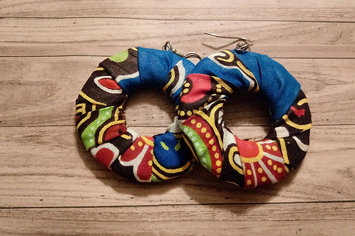 Multicolored Cloth Earrings