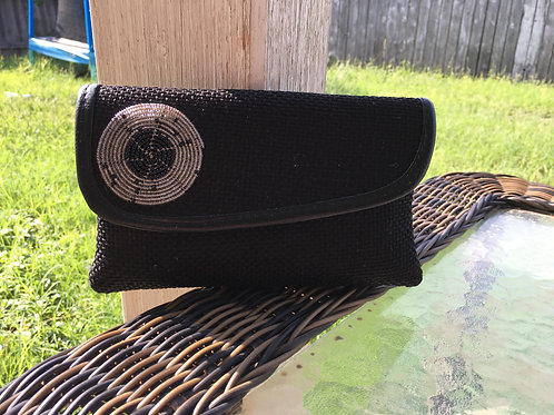 Black Beaded Clutched Purse