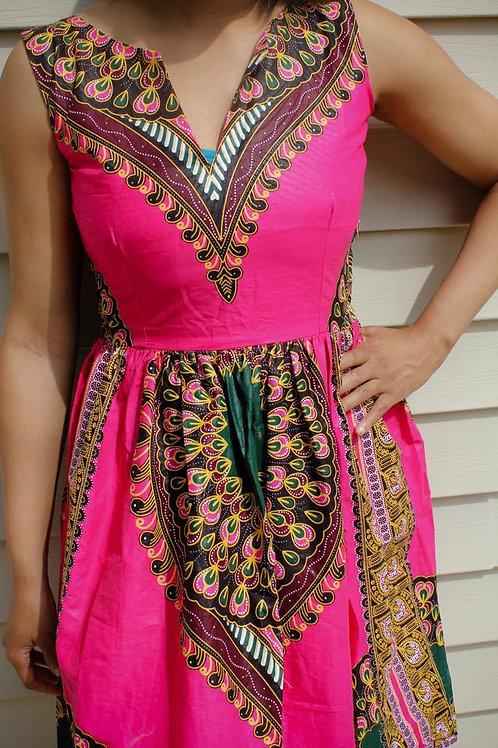African Pink Dress