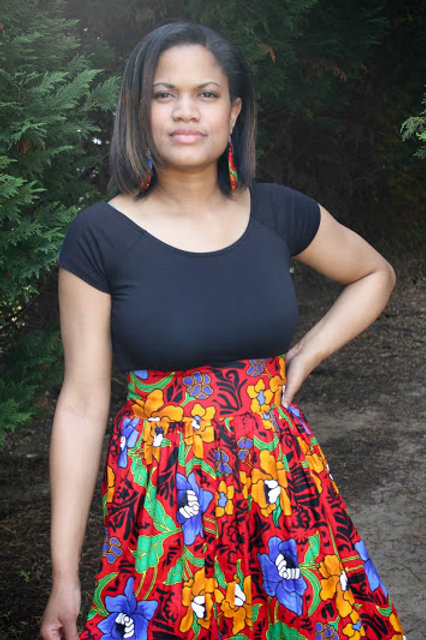 African Floral Skirt