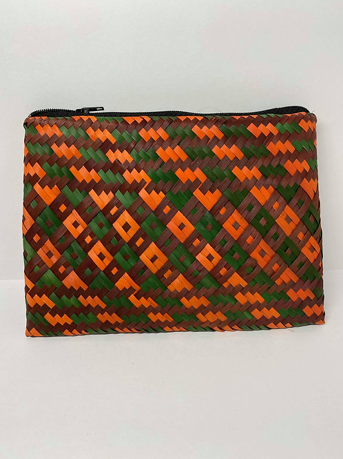 Green, Orange and Dark red Wallet