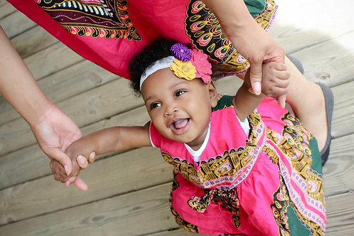 Baby African Pink Dress