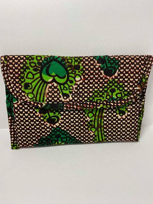 Green, Black and Tan Wallet
