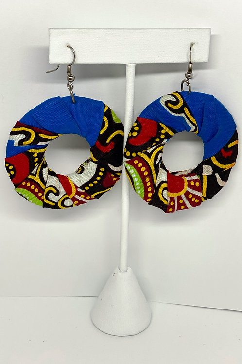 (s) Black, Green, Multicolored and Red Cloth Earrings