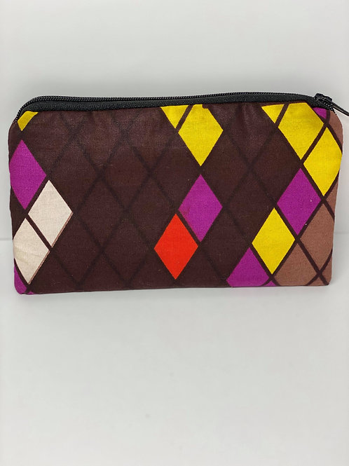 Brown, Purple, Yellow and Black Wallet