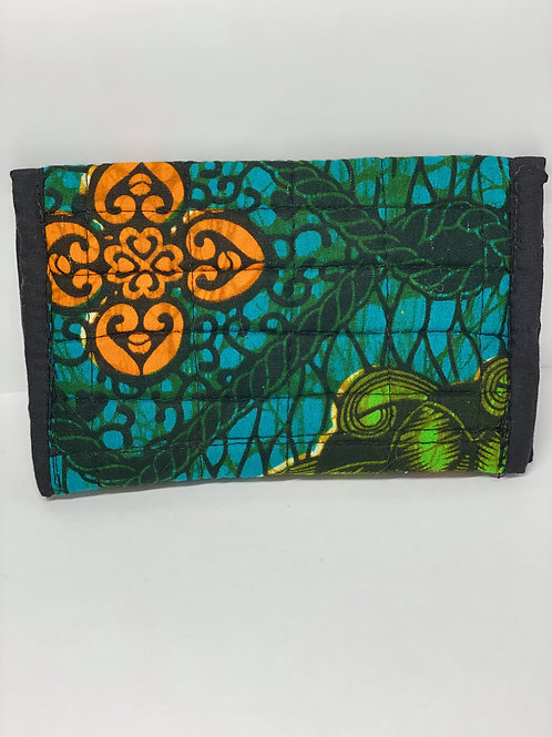 Turquoise , Green, Orange and Black Wallet