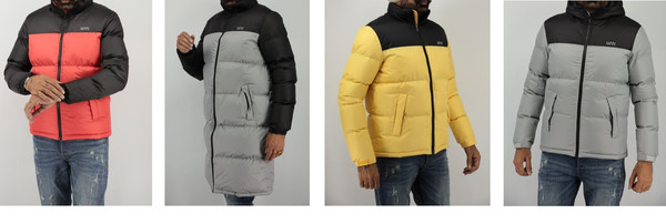 Colored Padded Jacket Collection