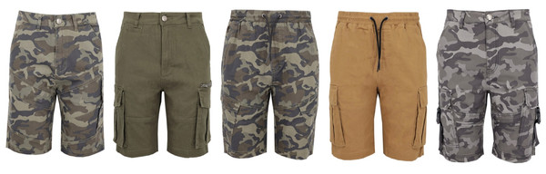 Men Short Camouflage and Pure Color Collection 1