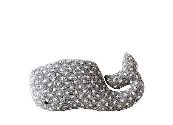 Polka Dot Whale Pillow