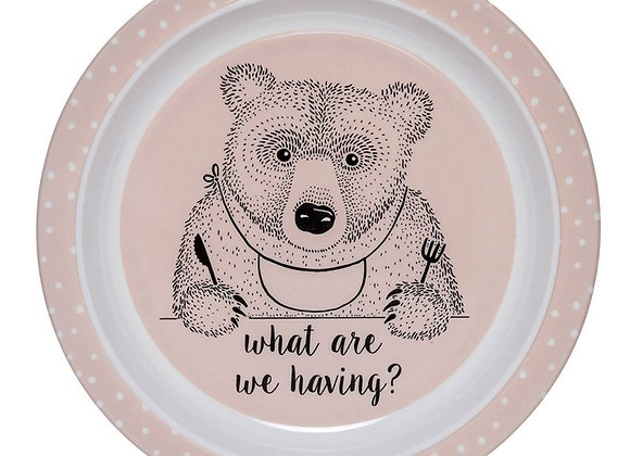 """What Are We Having"" Bear Plate (Backordered Until September)"