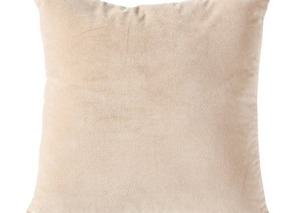 Taupe Velvet Front Pillow