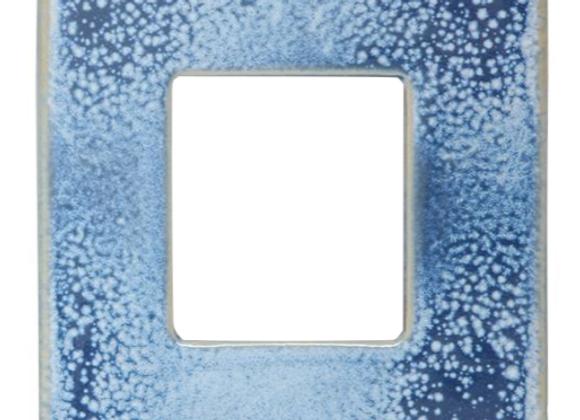 Blue Stoneware Reactive Glaze Frame