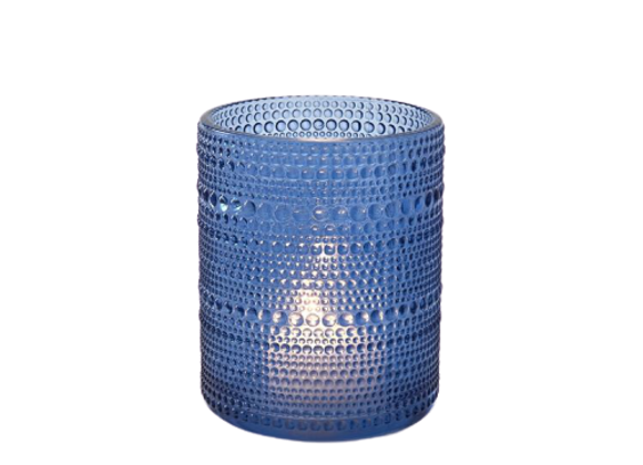 Blue Dots Candle Holder
