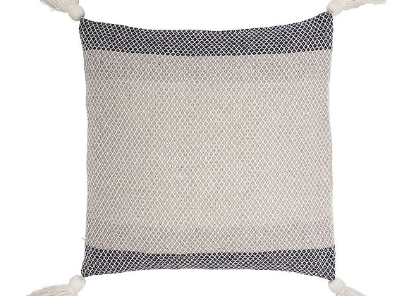 Blue Color Block Pillow (Backordered Until September)