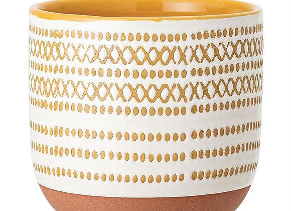 Cream & Mustard Pot