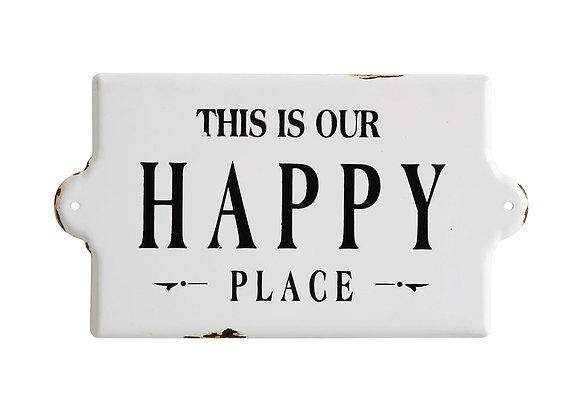 """This Is Our Happy Place"" Wall Decor 7.99"