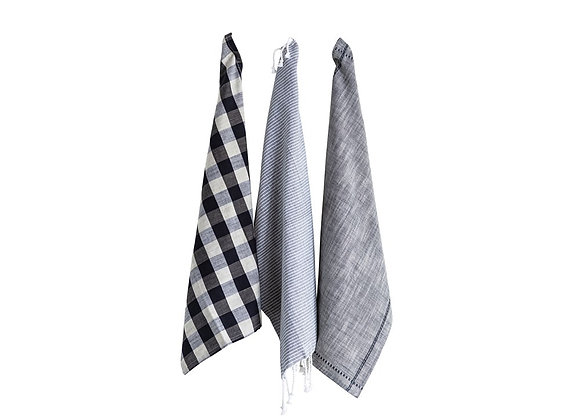 Grey Tea Towels, S/3