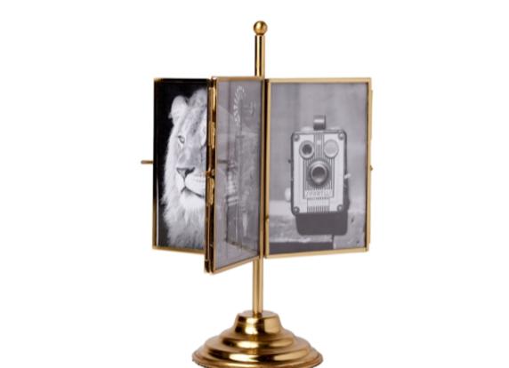 Brass Rotating Photo Frame