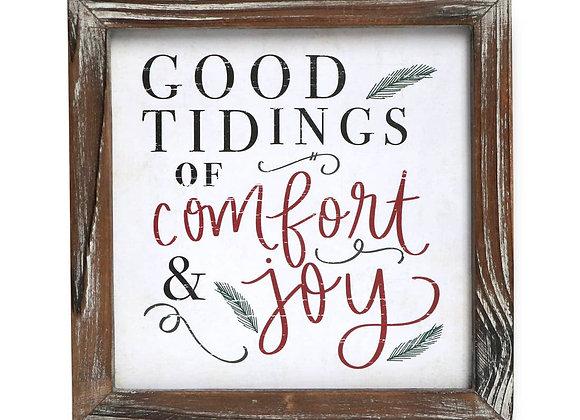 Good Tidings Wood Sign
