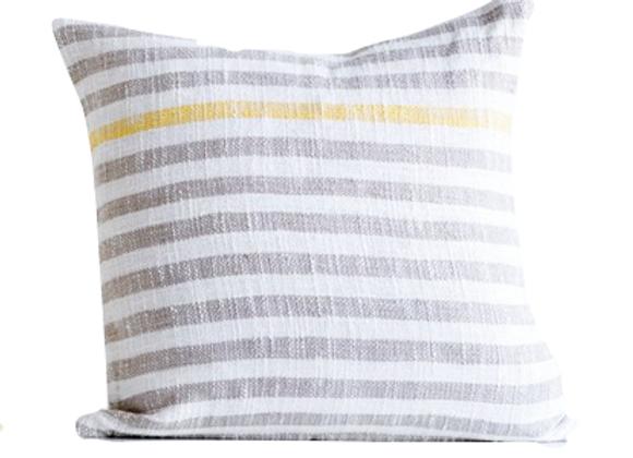 Grey Striped Pillow
