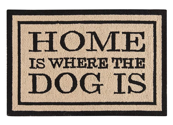 """""""Home Is Where the Dog Is"""" Welcome Mat"""