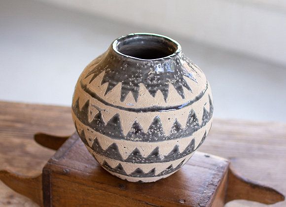 Gray Triangle Vase