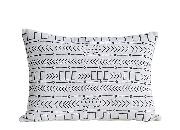 B&W Mudcloth Pillow