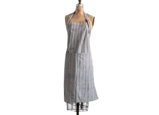 Grey Striped Apron
