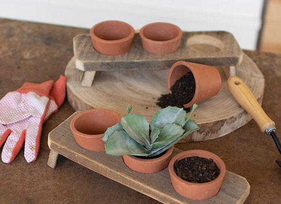Terracotta Flower Pots, S/3