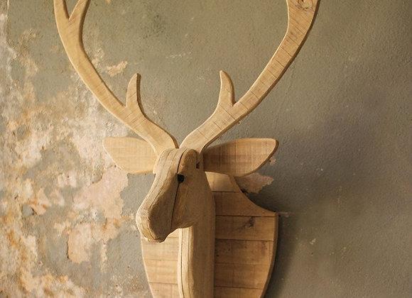 Wood Deer Wall Mount
