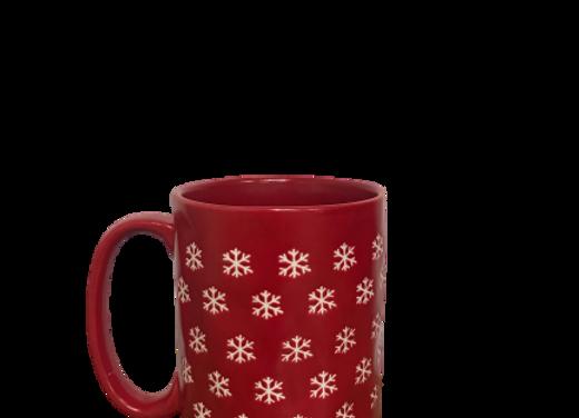 Snowy Red Mug