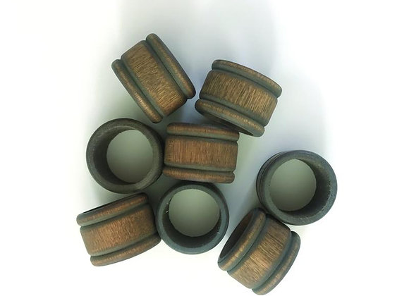 Wood Napkin Rings, S/4